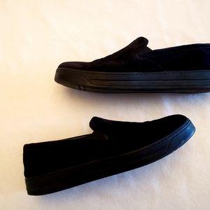 Prada suede slip on Vans type shoes